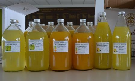Bottles of cordial